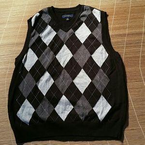 Club Room Sweater Black Vest. M